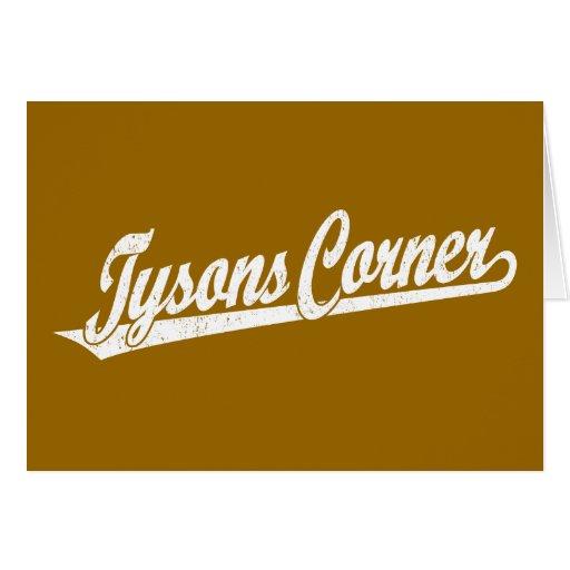 Logotipo de la esquina de la escritura de Tysons e Felicitacion