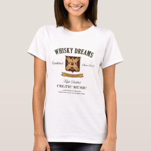 """Logotipo de la """"etiqueta"""" de los sueños del whisky playera"""