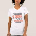 Logotipo de la etiqueta del cáncer endometrial que camisetas