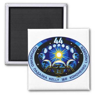 Logotipo de la expedición 44 imán cuadrado