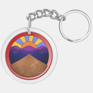 Logotipo de la fan aluvial llavero redondo acrílico a doble cara
