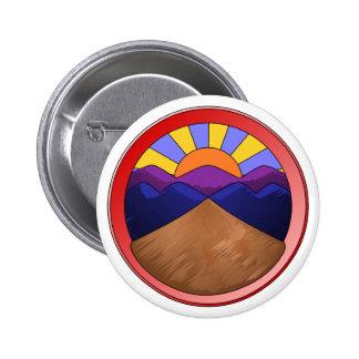 Logotipo de la fan aluvial pin redondo de 2 pulgadas