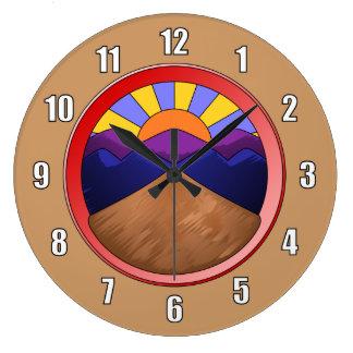 Logotipo de la fan aluvial reloj redondo grande