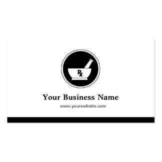 Logotipo de la farmacia de la asistencia médica - tarjetas de visita