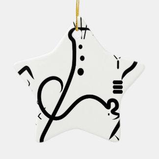 Logotipo de la feria de ciencia adorno navideño de cerámica en forma de estrella