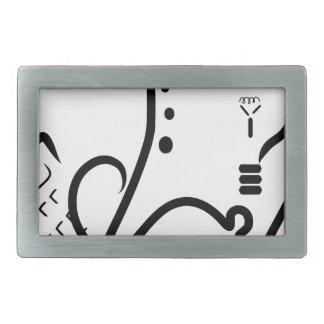 Logotipo de la feria de ciencia hebillas de cinturon rectangulares