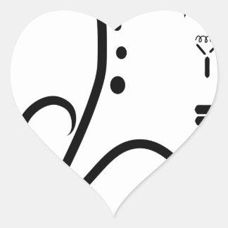Logotipo de la feria de ciencia pegatina en forma de corazón
