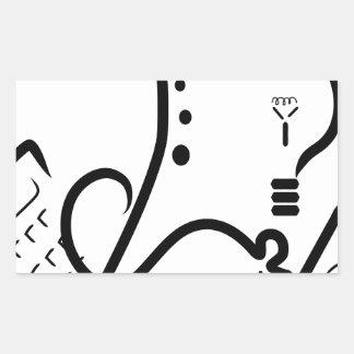 Logotipo de la feria de ciencia pegatina rectangular