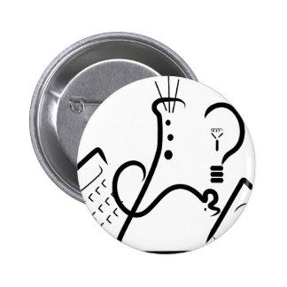 Logotipo de la feria de ciencia pin redondo de 2 pulgadas