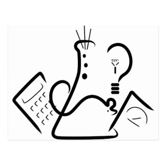 Logotipo de la feria de ciencia postales