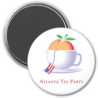 Logotipo de la fiesta del té de Atlanta Imán Redondo 7 Cm