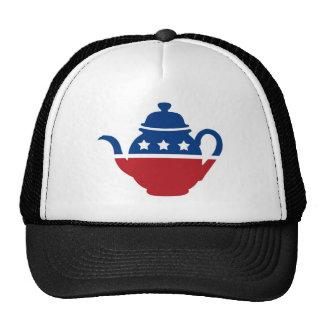 Logotipo de la fiesta del té gorro de camionero