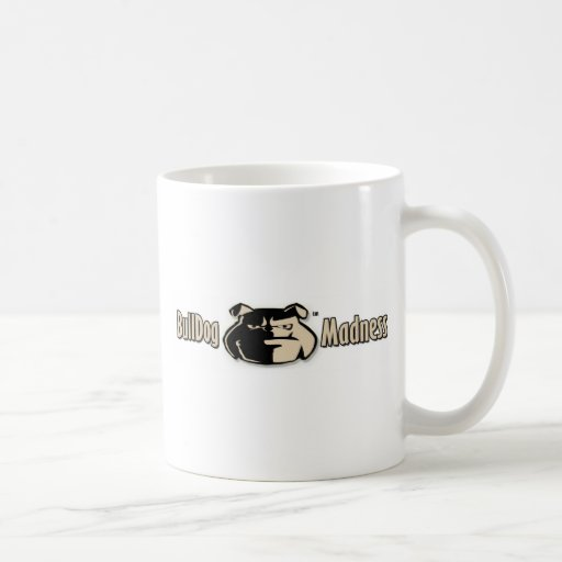 Logotipo de la firma de la locura del dogo taza