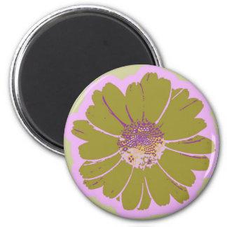 Logotipo de la flor #603 imán de frigorífico