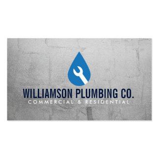 Logotipo de la fontanería y tarjeta de visita
