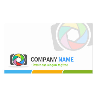 Logotipo de la fotografía de la muestra del tarjetas de visita
