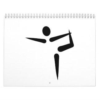 Logotipo de la gimnasia de la yoga calendarios de pared