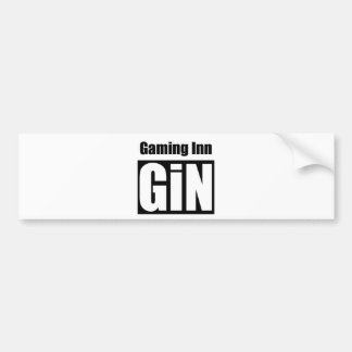 Logotipo de la ginebra pegatina para auto