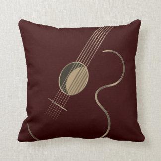 Logotipo de la guitarra acústica cojín