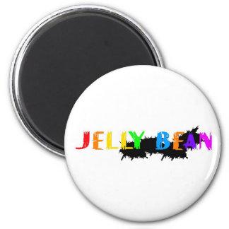 Logotipo de la haba de jalea imán redondo 5 cm