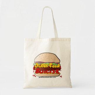Logotipo de la hamburguesa JFS a ir Bolsa Tela Barata
