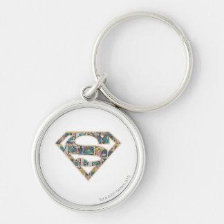 Logotipo de la historieta de Supergirl Llavero Redondo Plateado