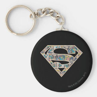 Logotipo de la historieta de Supergirl Llavero Redondo Tipo Pin