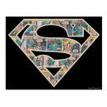 Logotipo de la historieta de Supergirl Tarjeta Postal