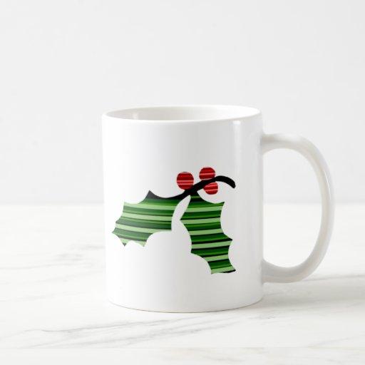 Logotipo de la hoja del acebo - taza de café