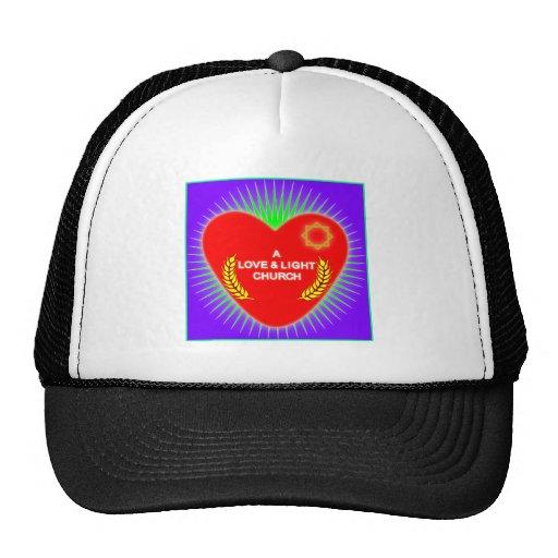Logotipo de la iglesia del amor y de la luz gorras de camionero