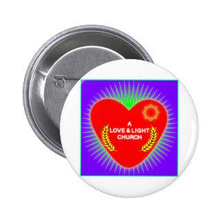Logotipo de la iglesia del amor y de la luz pin