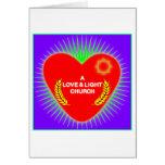 Logotipo de la iglesia del amor y de la luz tarjeta