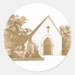 Logotipo de la iglesia pegatina redonda