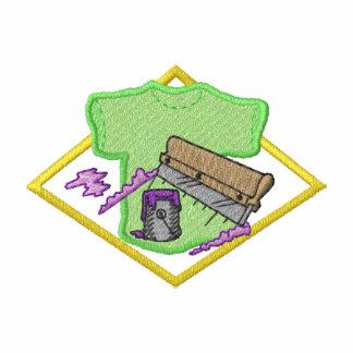 Logotipo de la impresión de pantalla camiseta polo bordada
