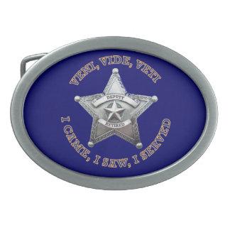 Logotipo de la insignia del ayudante del sheriff hebilla cinturón oval