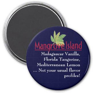 Logotipo de la isla del mangle no su profil usual imanes para frigoríficos
