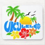 Logotipo de la isla del Ukulele Tapetes De Raton