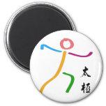 Logotipo de la ji del Tai Imán Redondo 5 Cm