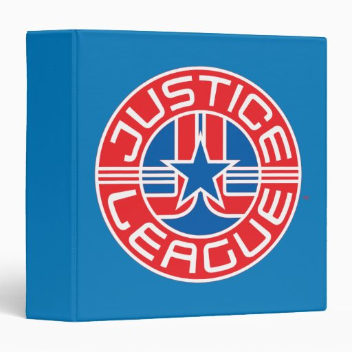 "Logotipo de la liga de justicia carpeta 1 1/2"""