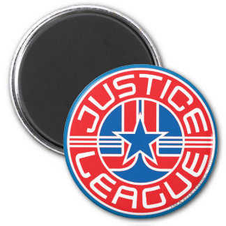 Logotipo de la liga de justicia imán para frigorífico