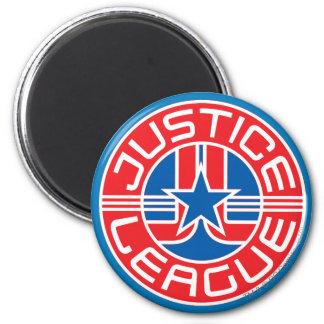 Logotipo de la liga de justicia imán redondo 5 cm