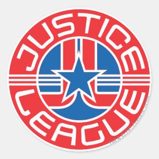 Logotipo de la liga de justicia pegatinas redondas