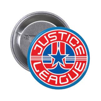 Logotipo de la liga de justicia pin redondo 5 cm