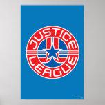 Logotipo de la liga de justicia póster