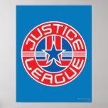 Logotipo de la liga de justicia posters