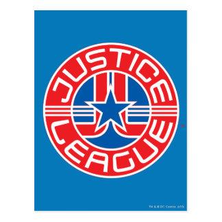 Logotipo de la liga de justicia postales