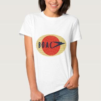 Logotipo de la línea aérea del vintage BOAC Camisas