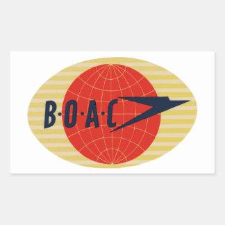 Logotipo de la línea aérea del vintage BOAC Pegatina Rectangular