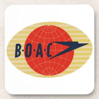 Logotipo de la línea aérea del vintage BOAC Posavaso