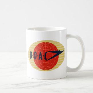 Logotipo de la línea aérea del vintage BOAC Taza Básica Blanca